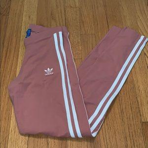 Pink adidas leggings XS
